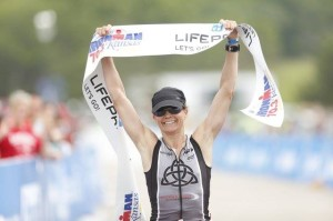 RBM breaking the tape at 70.3 Kansas